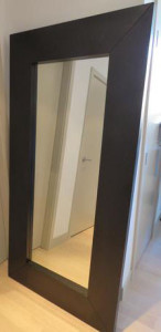Black Long Alistair Mirror Large
