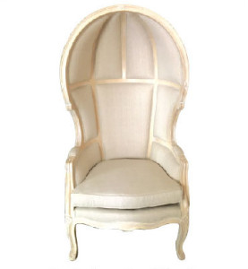 Classic French Royalty Chair Off White Ivory