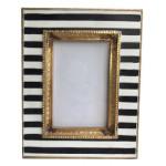 Black Striped Photo Frame