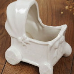 Ivory White Color Ceramic Planter