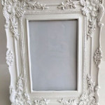 White Photo Frame Ornate