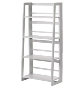 White Standing Shelves Claudia Wooden