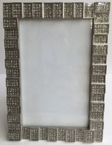 Photo Frame Diamond Silver color