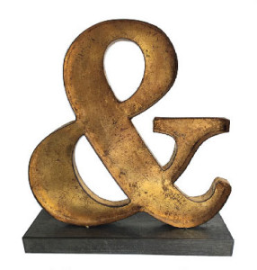 Gold Ampersand Decoration Sign