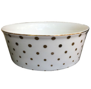 White Gold Dotted Bowl