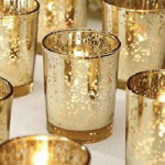 gold glass mercury candleholders