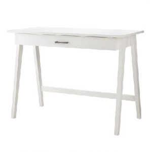 White Guiliana Wooden Desk Table