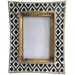 Black and White colored Photo Frame Golden Rim