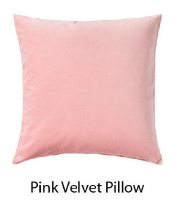Pink Velvet soft Pillow