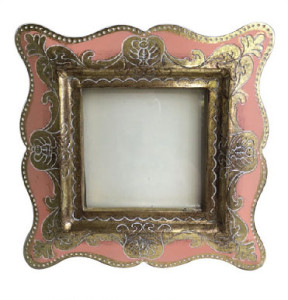 Photo Frame Pink Scroll
