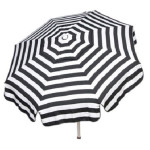 Large Italian Striped Black and White Umbrella
