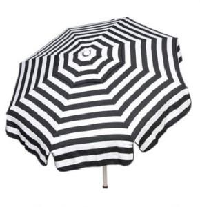 Large Italian Striped Black and White Umbrella