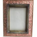 Ornate Pink Color Vine Photo Frame