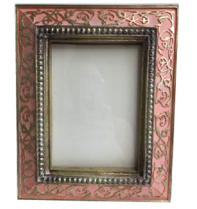 Ornate Pink Color Vine Photo Frame