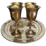Goblet set in Silver Brass and Gold Colors