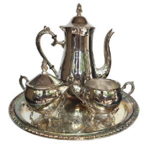 Antique Silver-Plated Tea Set  sc 1 st  Oh So Pretty Events \u0026 Rentals & Antique Silver-Plated Tea Set - Oh So Pretty Events \u0026 Rentals
