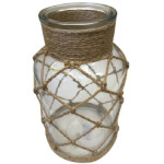 Ornate Glass Jar Candleholder