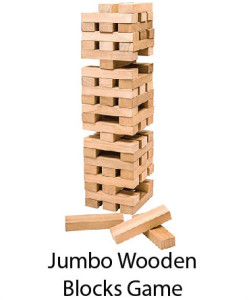 Jumbo Wooden Blocks Game
