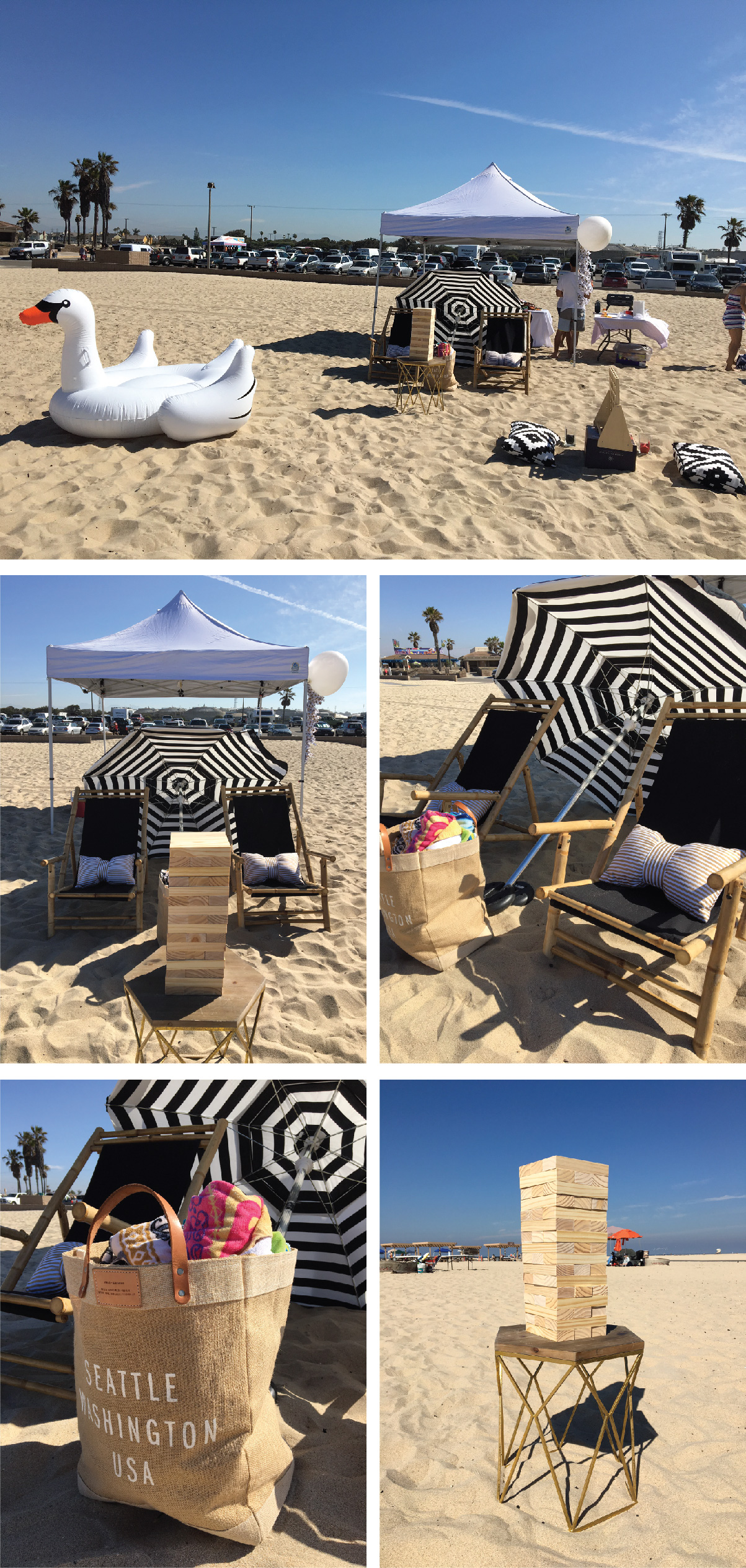 2.beach party setup