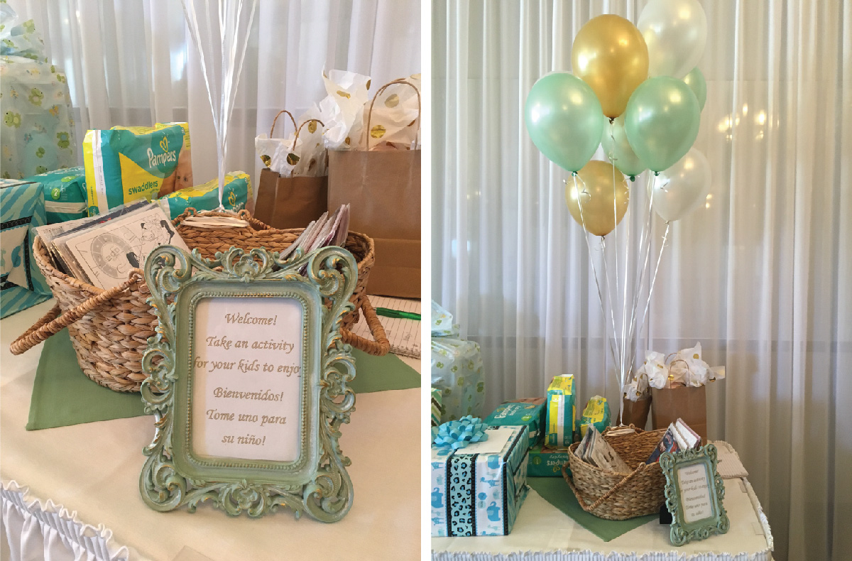 3.hot air balloon baby shower