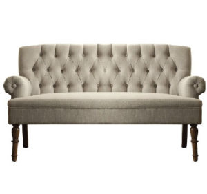 tufted settee couch sofa lounge furniture