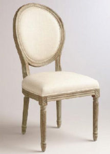 ivory wooden dining chair