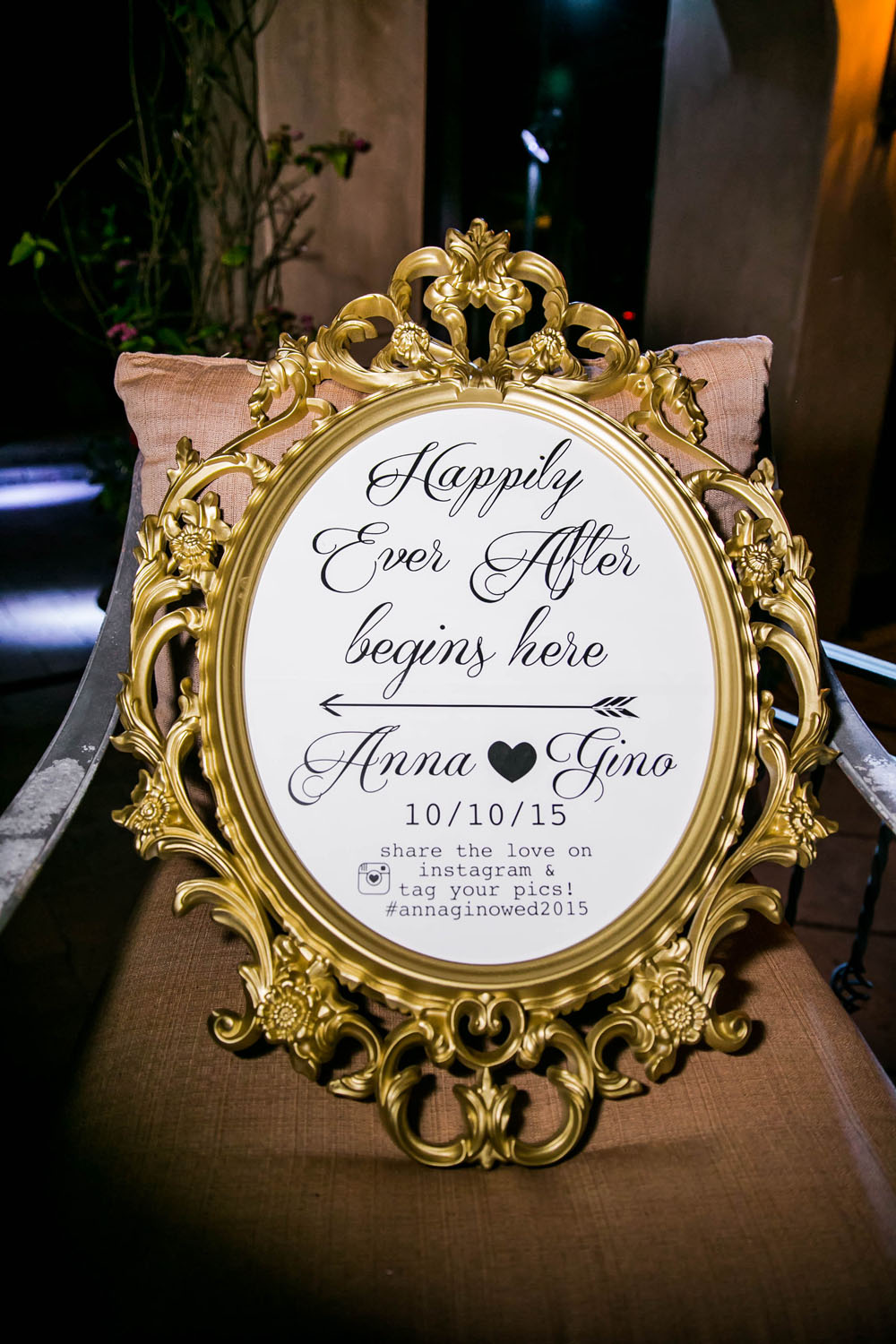 gold baroque frame oh so pretty events rentals
